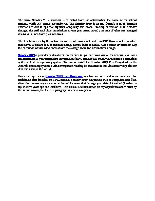 DOC) Smadav 2019 New | richa fredic - Academia edu
