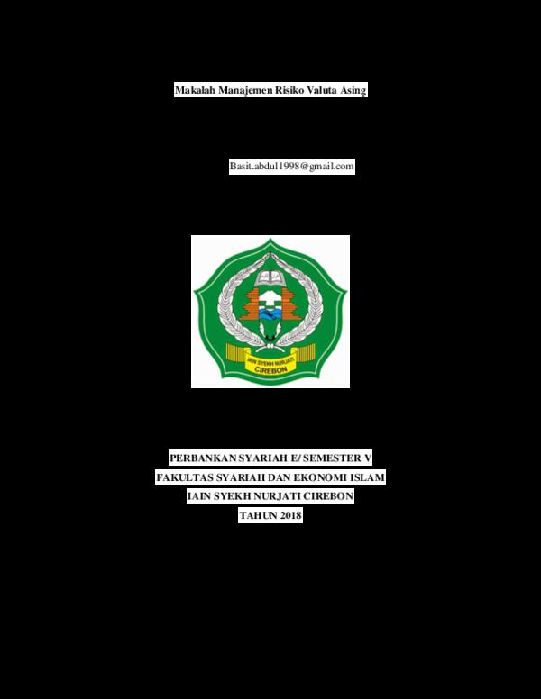 Pdf Makalah Manajemen Risiko Valuta Asing Tugas Terstruktur Mata Kuliah Manajemen Treasury Abdul Basit Academia Edu