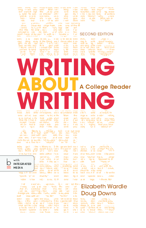 PDF) WRITING about WRITING : A College Reader SECOND EDITION | Ahmed