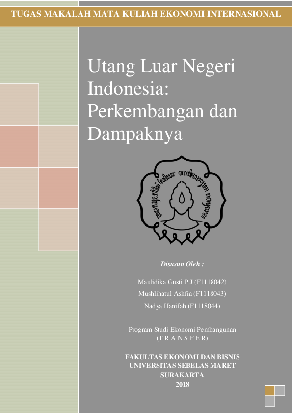 Doc Makalah Utang Luar Negeri Indonesia Nadya Hanifah Academia Edu