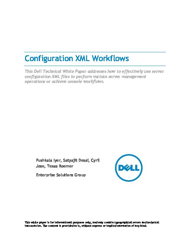 PDF) Configuration XML Workflows | Raveendra Padala - Academia edu