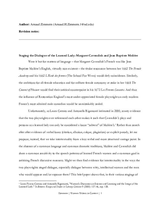 dissertation lécole des femmes arnolphe
