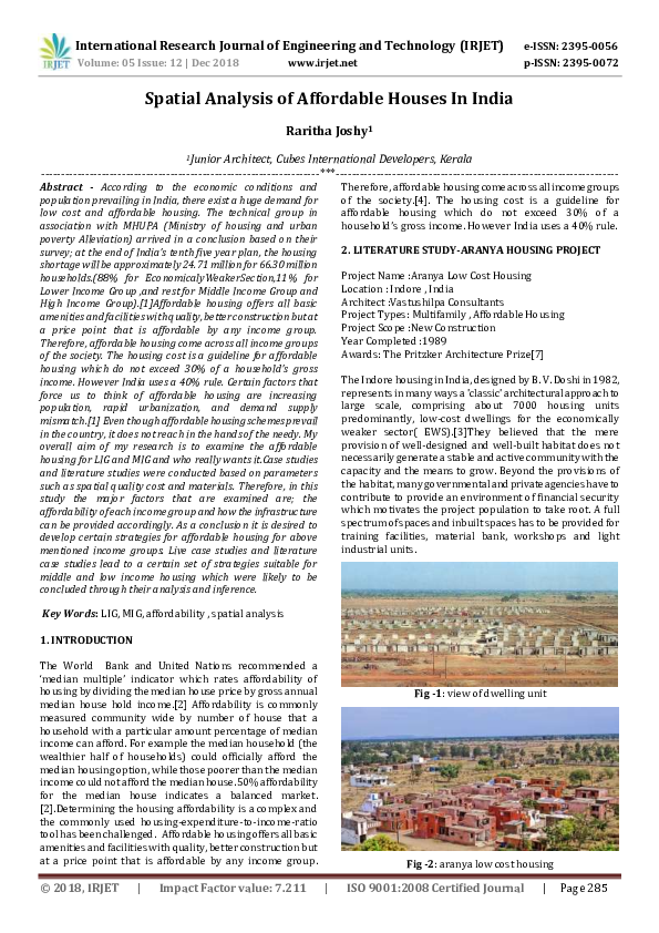 PDF) IRJET-Spatial Analysis of Affordable Houses in India