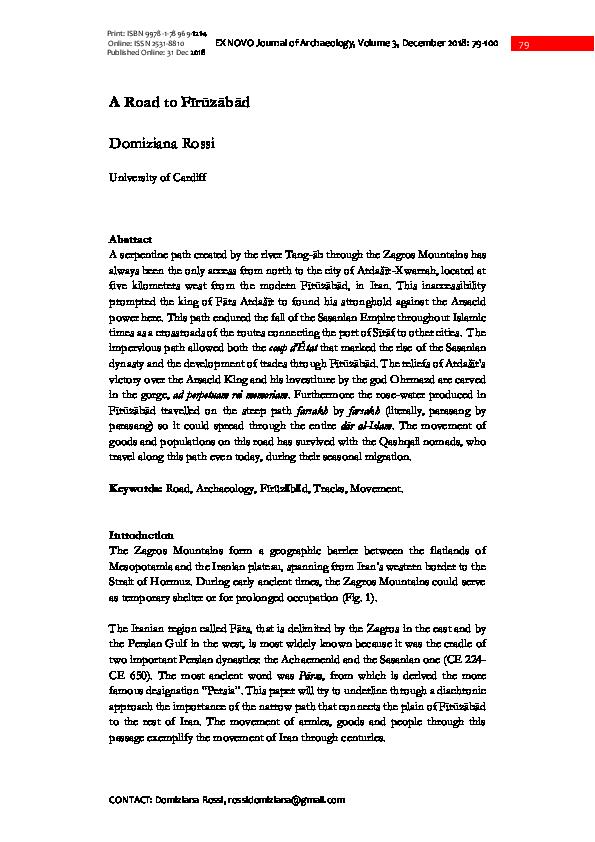 PDF) 6_Rossi_A Road to F r z b d_EX NOVO Vol. 3 _2018-.pdf ...