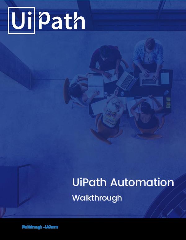 PDF) UiPath Automation Walkthrough | Jeison Cruz Rodriguez