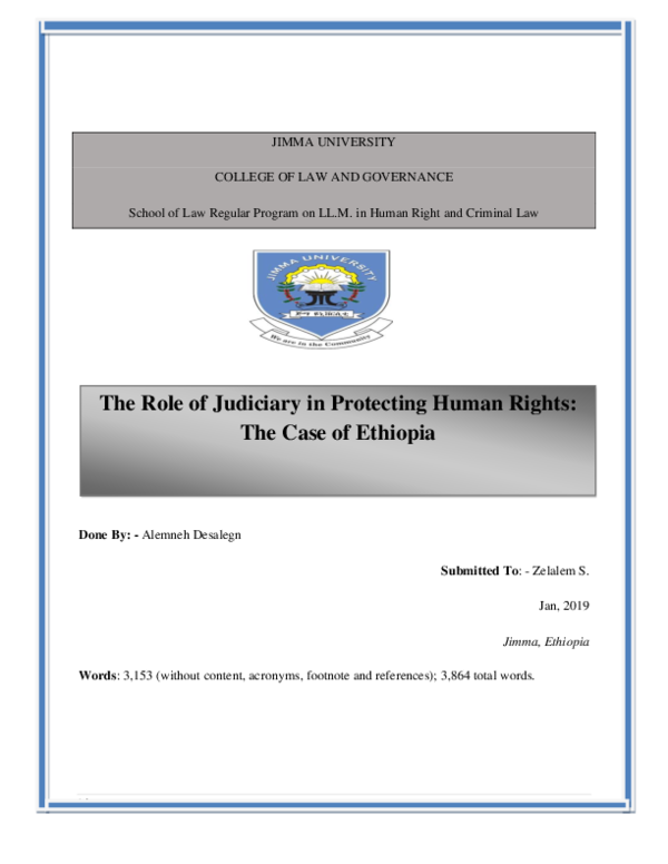 PDF) fina-the role of judiciary in protecting human rights