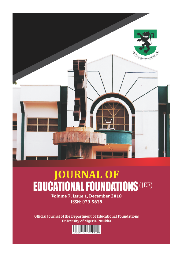 PDF) JOURNAL OF EDUCATIONAL FOUNDATIONS - VOLUME 7 ISSUE 1