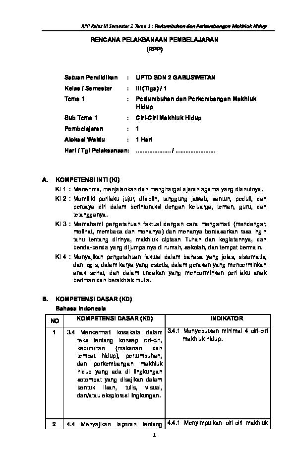 Doc Rpp K13 Kelas 3 Sd Revisi 2018 Doc Klik Download Https Mbiliyora Blogspot Com 2018 01 Rpp K13 Kelas 3 Sd Html Ruben Palanggay Academia Edu