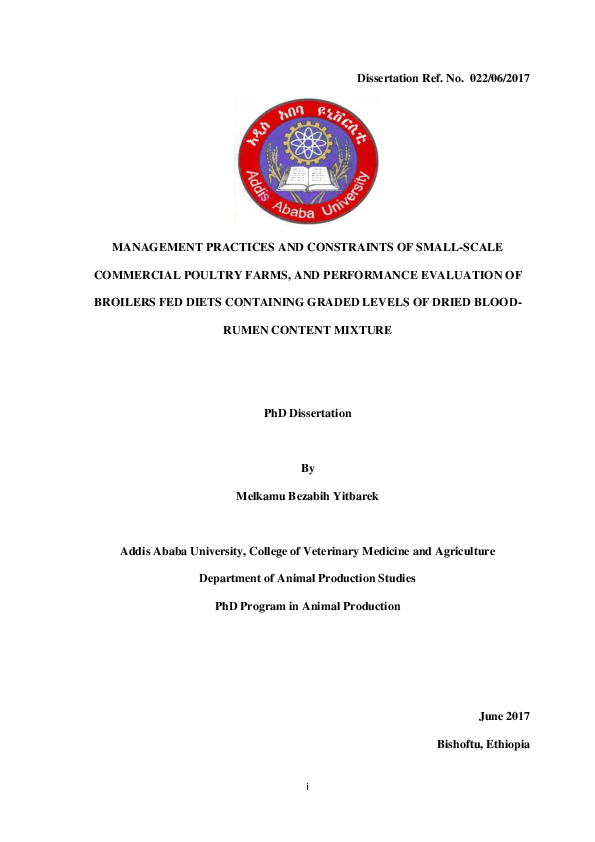PDF) Melkamu PhD Dissertation, Addis Ababa University pdf