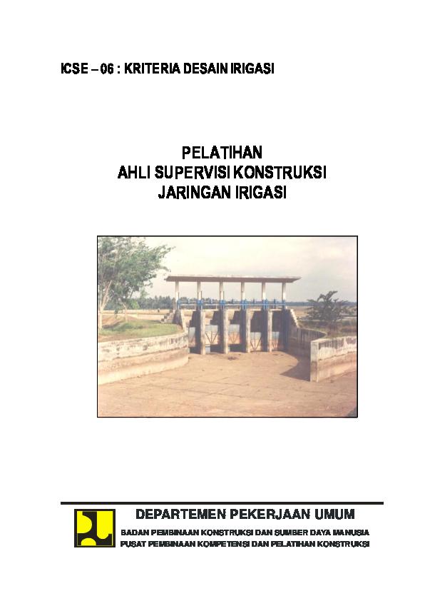 PDF) 2005-06-Kriteria Desain Irigasi.pdf | esy armada - Academia.edu