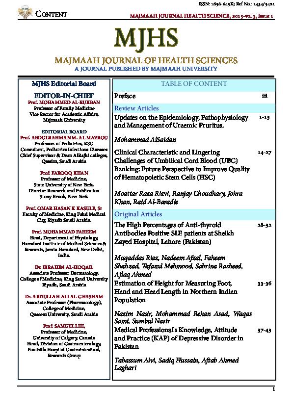 PDF) MJHS March 2015 Vol 3.pdf | Sadiq Hussain - Academia.edu