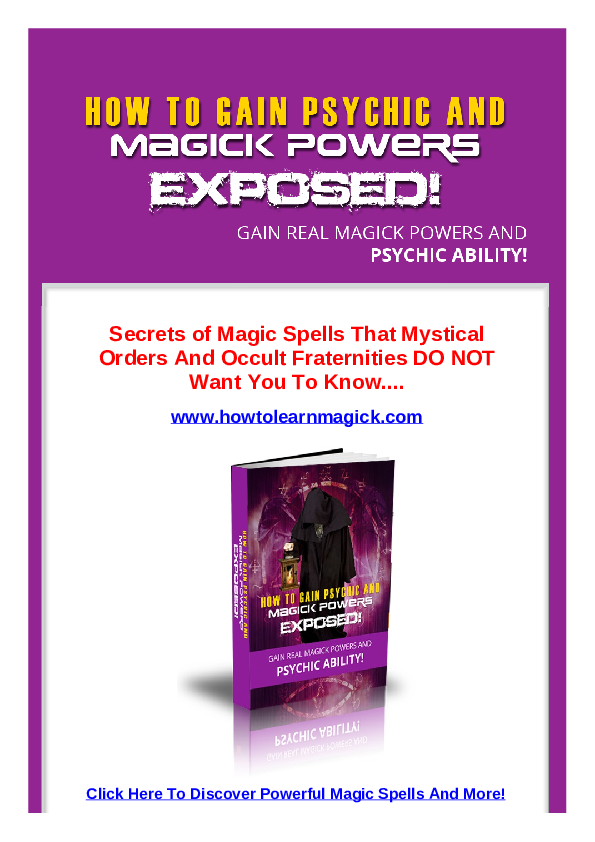 PDF) Real magic spells pdf | moxxz real - Academia edu
