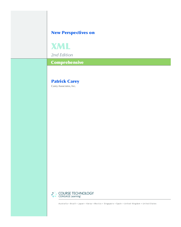 PDF) New Perspectives on XML 2nd Edition Comprehensive