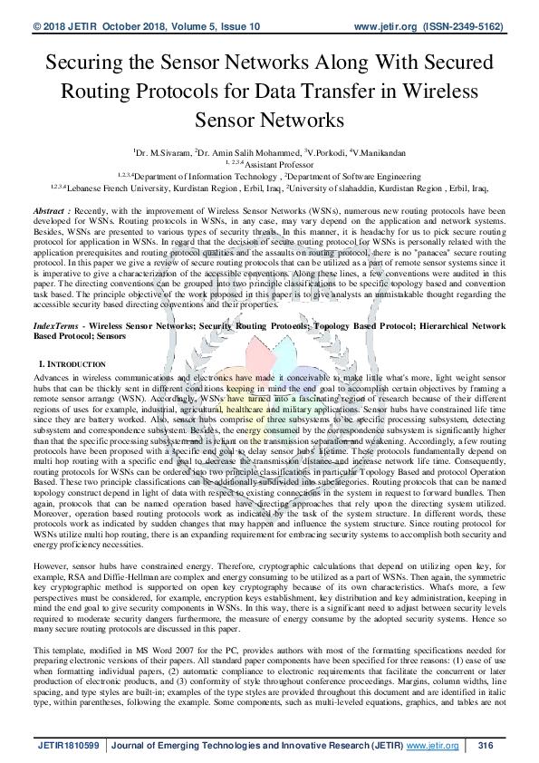 For security sensor network pdf protocol
