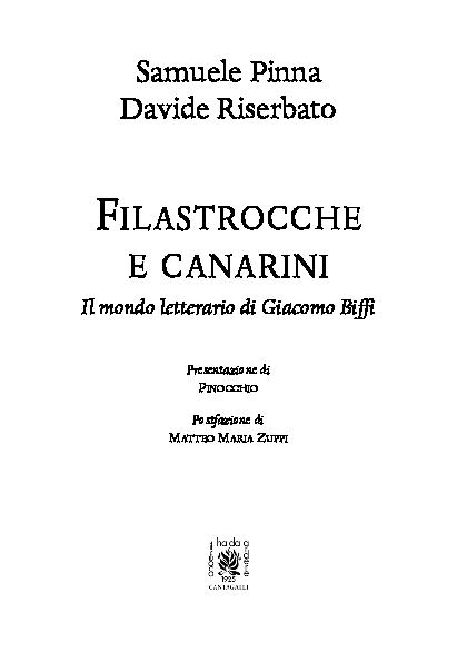 Filastrocche E Canarini Il Mondo Letterario Di Giacomo Biffi
