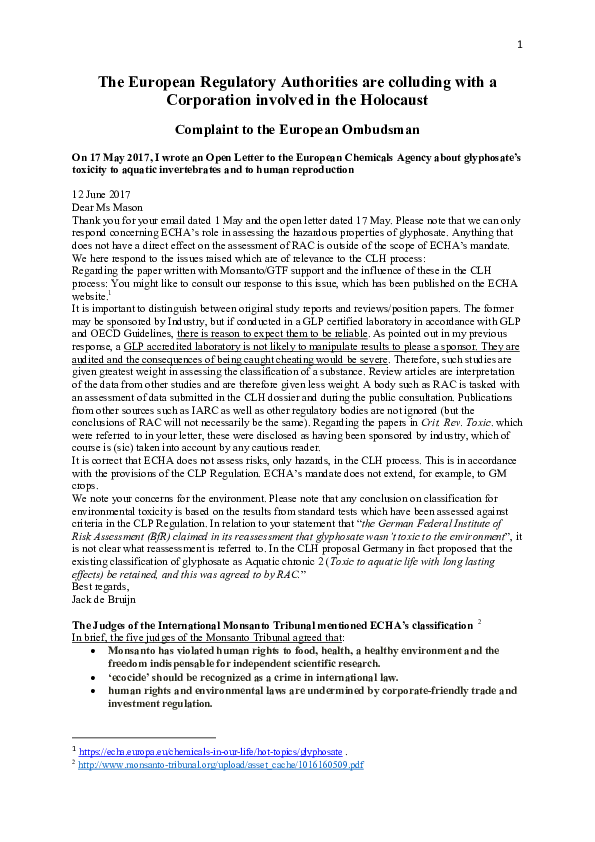 PDF) The European Regulatory Authorities are colluding with