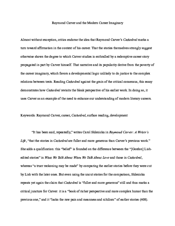 Critical essays on raymond carver best college essay proofreading sites