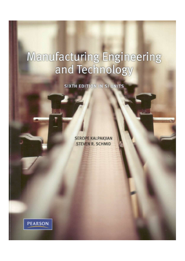 PDF) Manufacturing Engineering and Technology 6th Edition