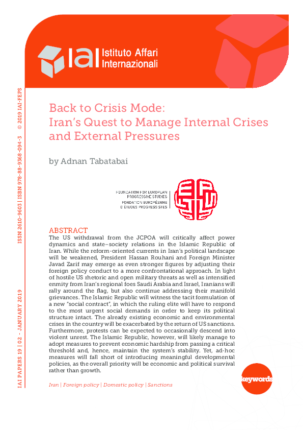 PDF) Back to Crisis Mode: Iran's Quest to Manage Internal
