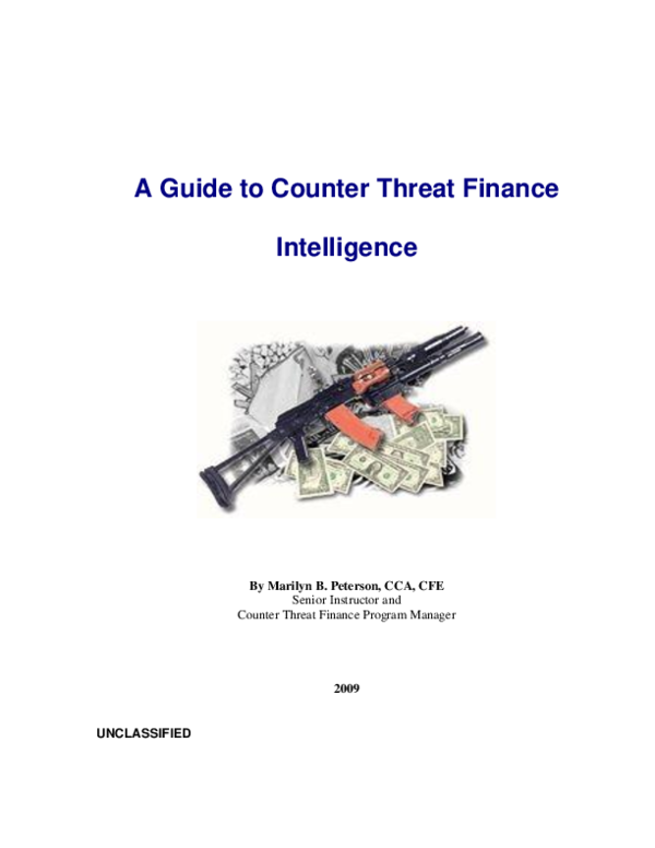 PDF) Guide to Counter Threat Finance[1].pdf | Marilyn Peterson ...