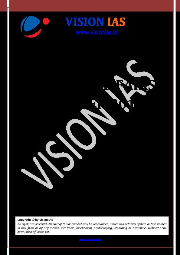 PDF) Current affairs october 2018 visionias | daya patel - Academia edu