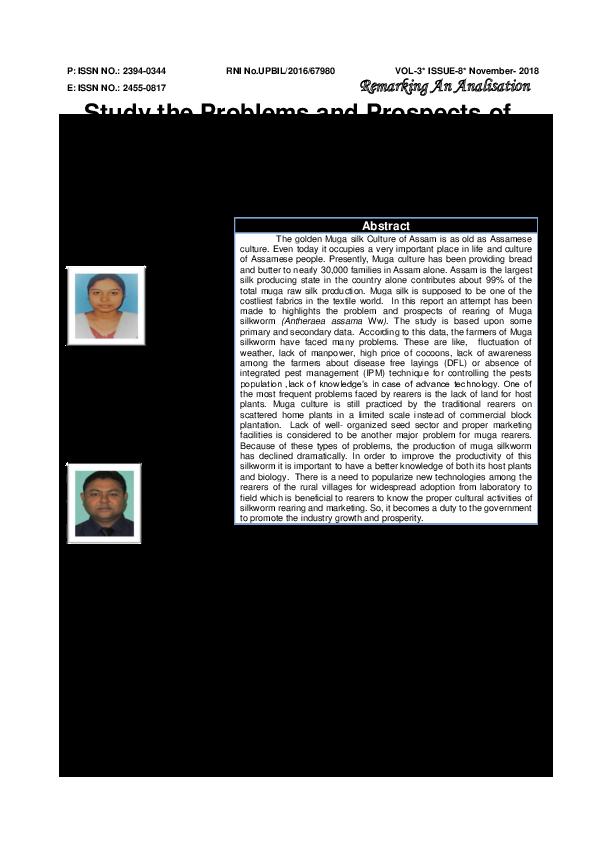 research paper on muga silkworm