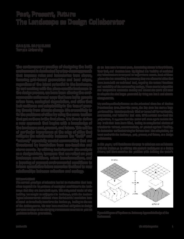 PDF) Past Present Future_The Landscape as Design Collaborator.pdf ...