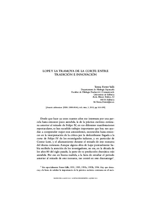 Pdf Tramoyapdf Teresa Ferrer Valls Academiaedu