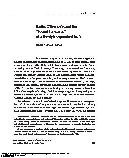 PDF) Radio, Citizenship, and the