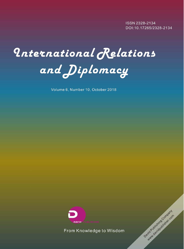 PDF) International Relations and Diplomacy (ISSN2328-2134) Volume ...