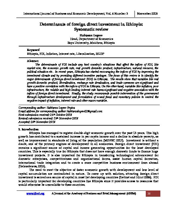 Ethiopian Export Policy Pdf