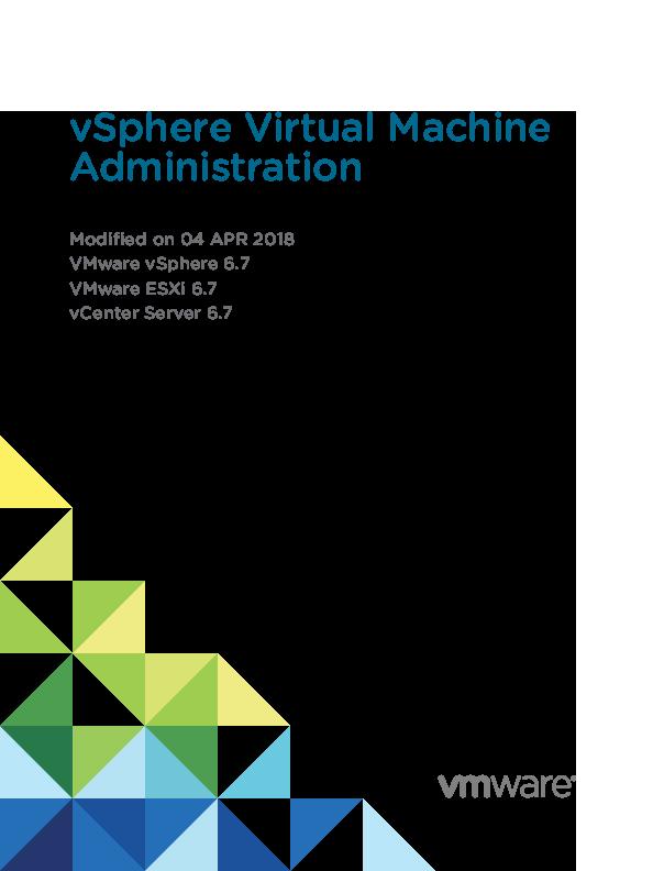 PDF) Vsphere esxi vcenter server 67 virtual machine admin guide