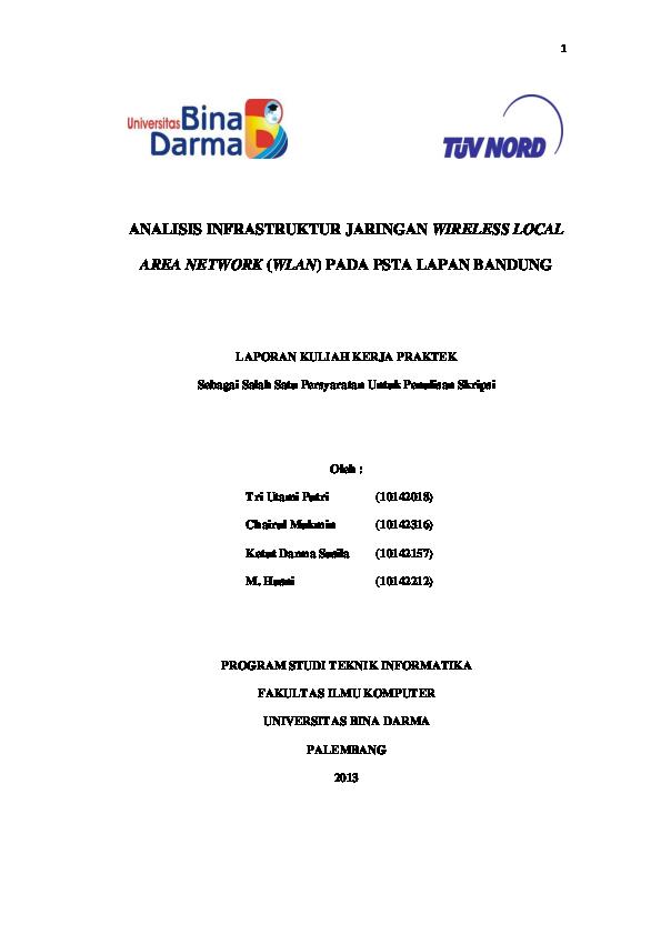 PDF) ANALISIS INFRASTRUKTUR JARINGAN WIRELESS LOCAL AREA NETWORK ...