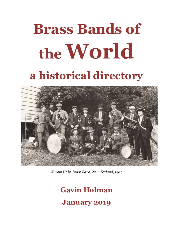 PDF) Brass Bands of the World - a historical directory
