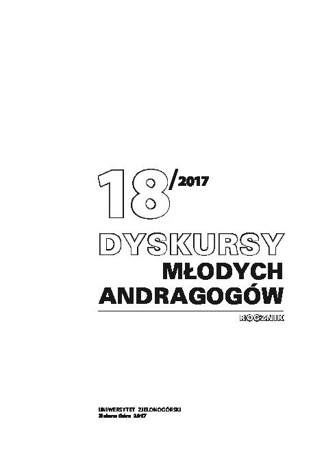 Pdf Dyskursy Młodych Andragogów 18 Sylwia Słowińska