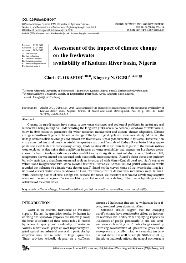 PDF) Assessment_of_the_impact_of_climate_change_on_the_ pdf