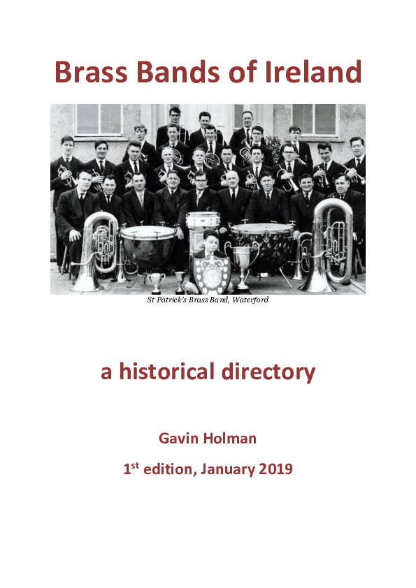 PDF) Brass Bands of Ireland - a historical directory | Gavin Holman