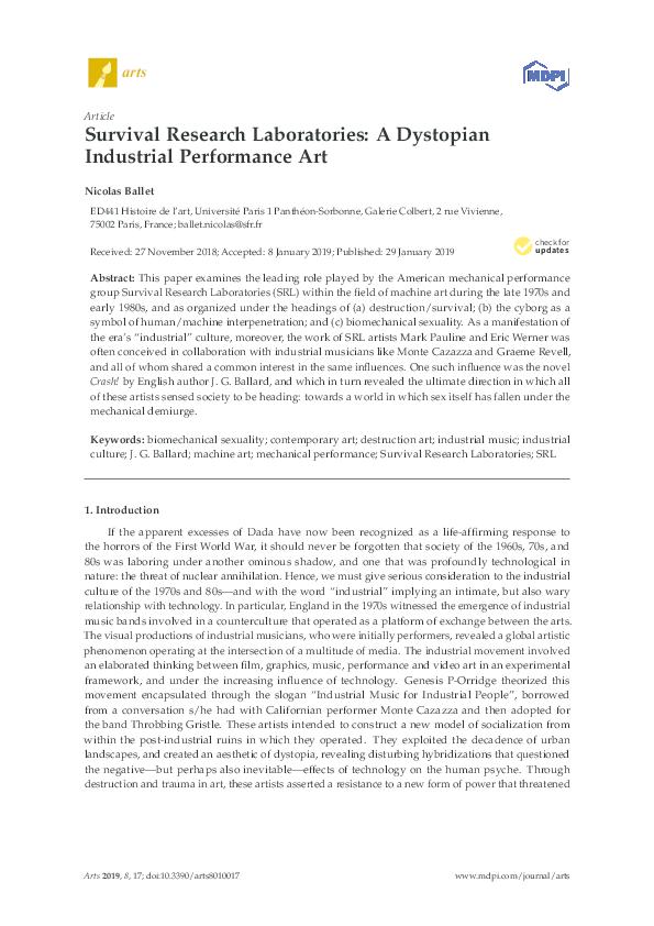 PDF) Survival Research Laboratories: A Dystopian Industrial