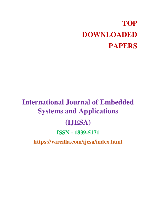PDF) Top Downloaded Papers - Embedded Systems and