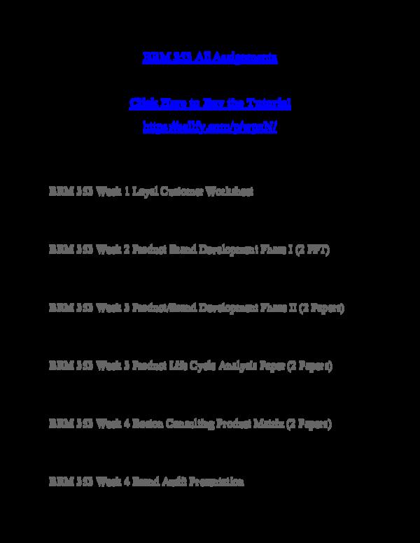 PDF) BRM 353 Bridge Resource Management | Tom Holland123