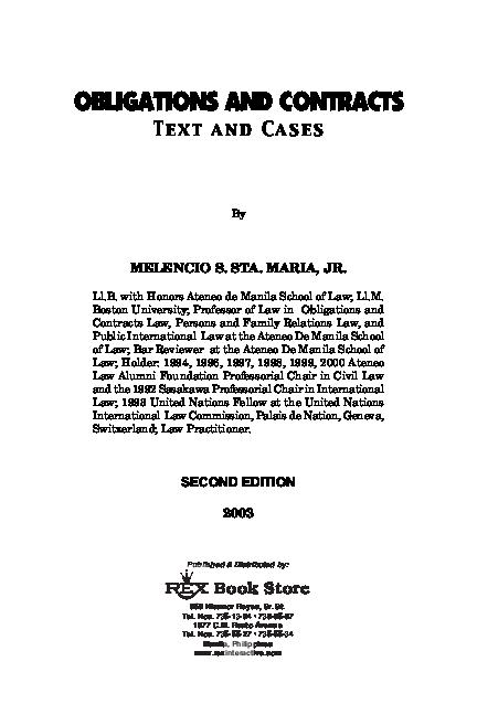 PDF) STA-MARIA-Obligation-Contracts-1.pdf   Mera Balijani ...