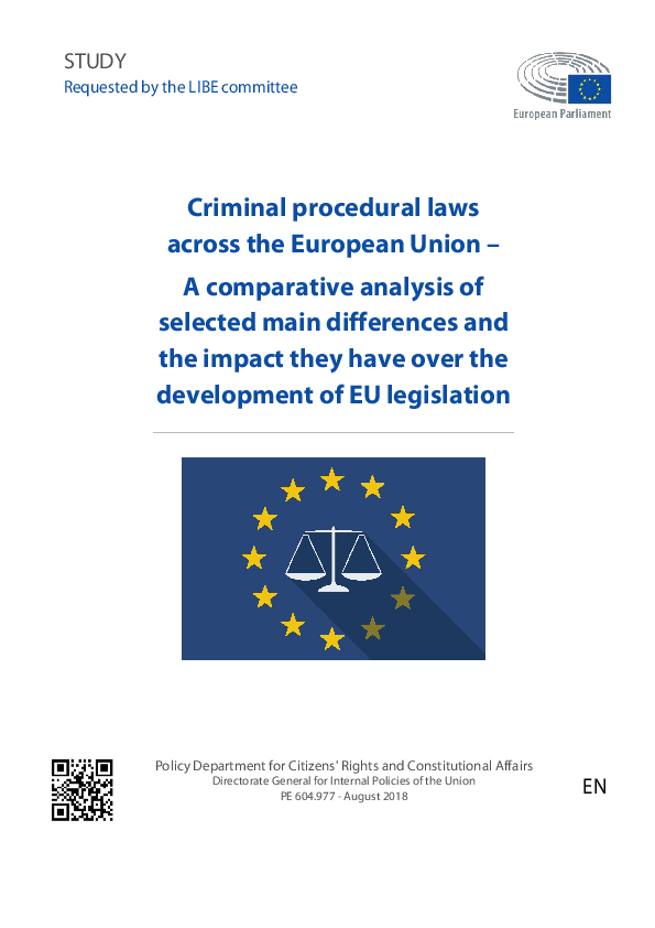 PDF) Criminal procedural laws across the European Union – A