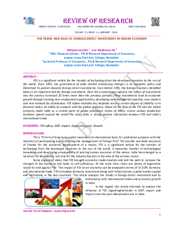 India fdi pdf in