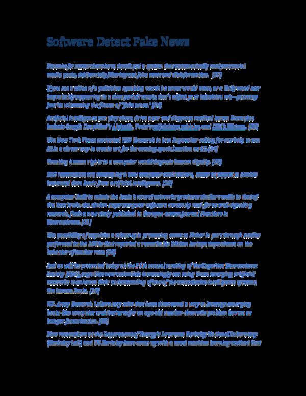 PDF) Software Detect Fake News | George Rajna - Academia edu