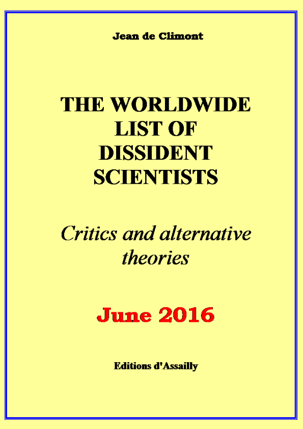 PDF) Jean de Climont - The worldwide list of dissident