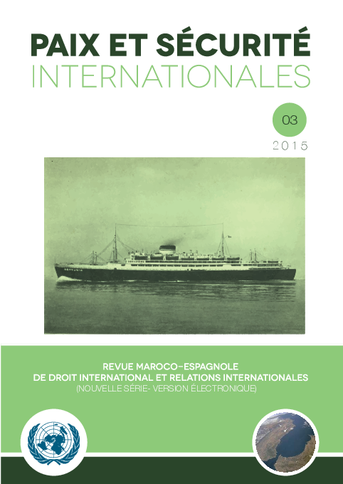 Pdf 2015 Paix Et Securite Internationales Num 03 2015