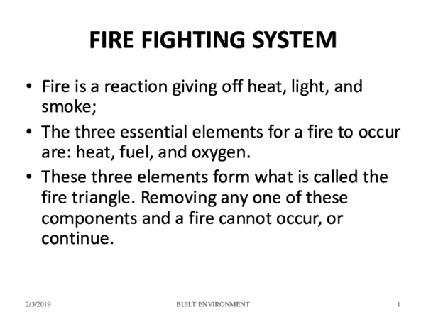 PPT) Fire fighting systems in building | Bagus Prambudi - Academia edu