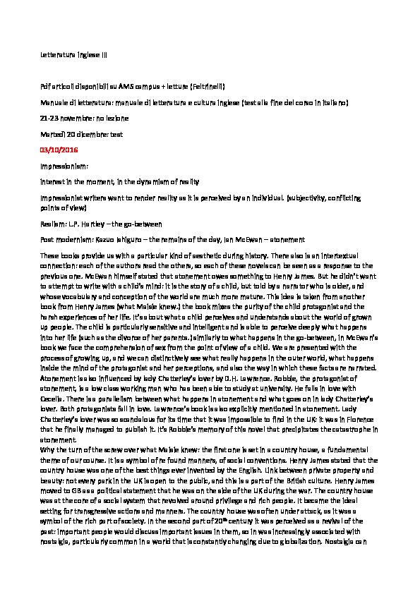 Letteratura Inglese Iii Anna Zanichelli Academiaedu