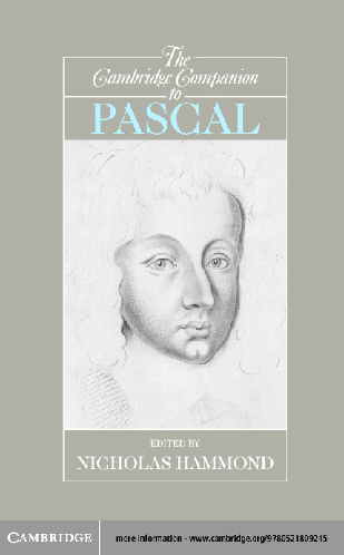 PDF) THE CAMBRIDGE COMPANION TO PASCAL.pdf | Arlindo ...
