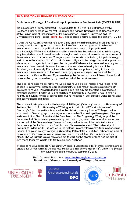 PDF) PhD-EVEPRIMASIA pdf | Herve Bocherens - Academia edu